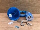 Hanglamp silicone E27 blauw._