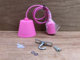 Hanglamp silicone E27 rose._