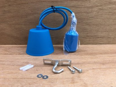 Hanglamp silicone E27 blauw.