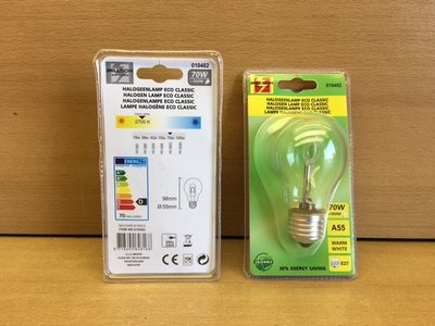 Halogeenlamp ECO classic 70 watt.